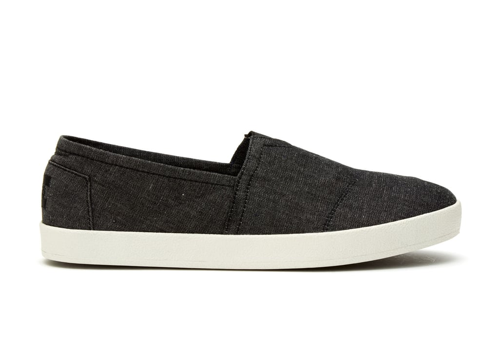 TOMS Black Chambray Slip-Ons ($59)