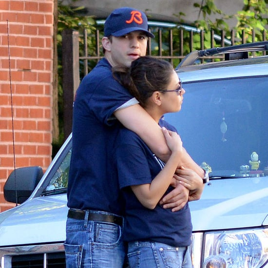 Ashton Kutcher and Mila Kunis Hugging in NYC   Pictures