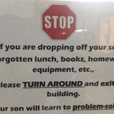 This School's Brutally Honest Sign Teaching Kids to Problem-Solve Is Going Viral