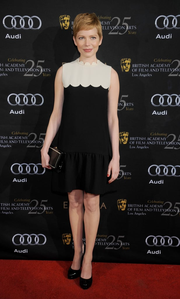 Michelle Williams wore a chic Victoria Beckham minidress for a BAFTA event in January.