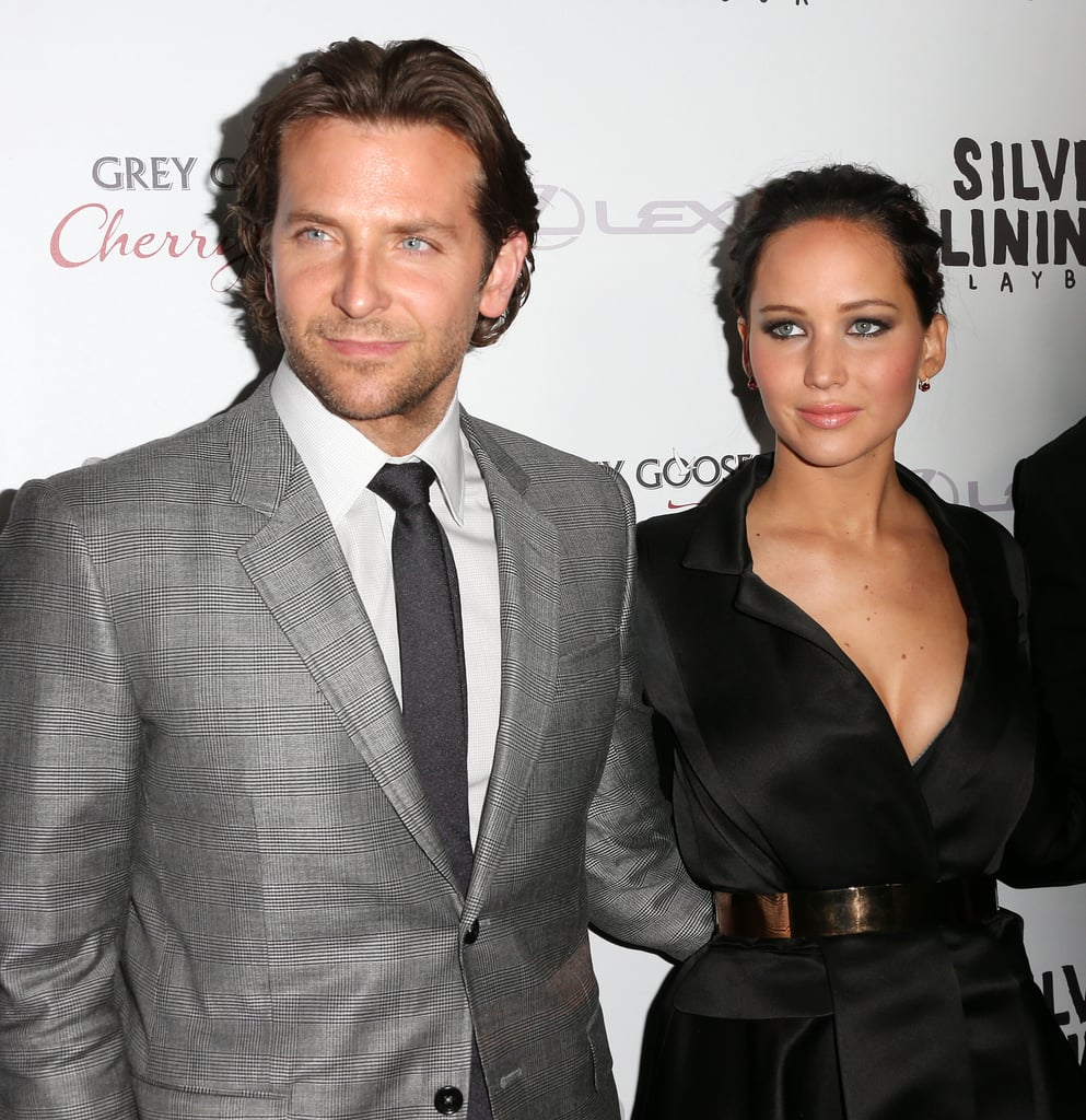 Bradley Cooper had his arm around Jennifer Lawrence to hit the red carpet at the Silver Linings Playbook LA premiere.