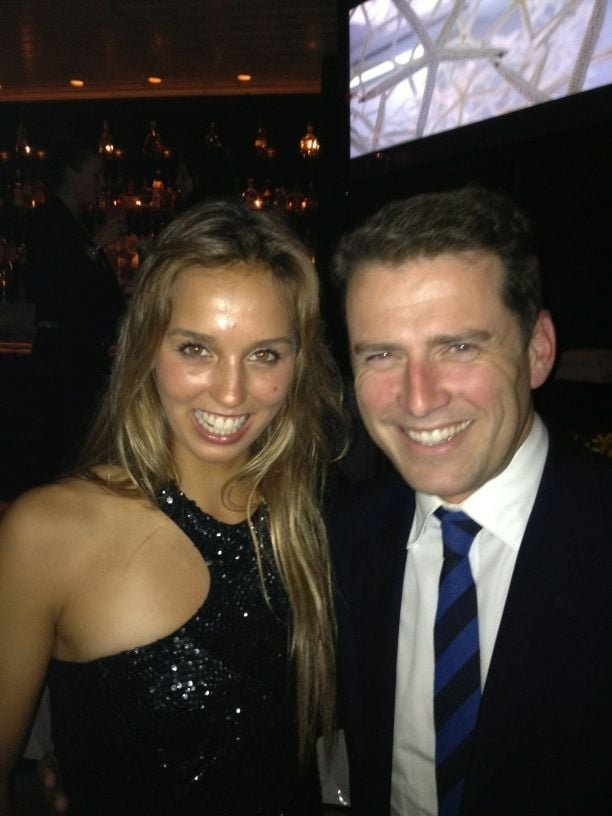 Sally Fitzgibbons and Karl Stefanovic met up at an event. Source: Twitter user karlstefanovic