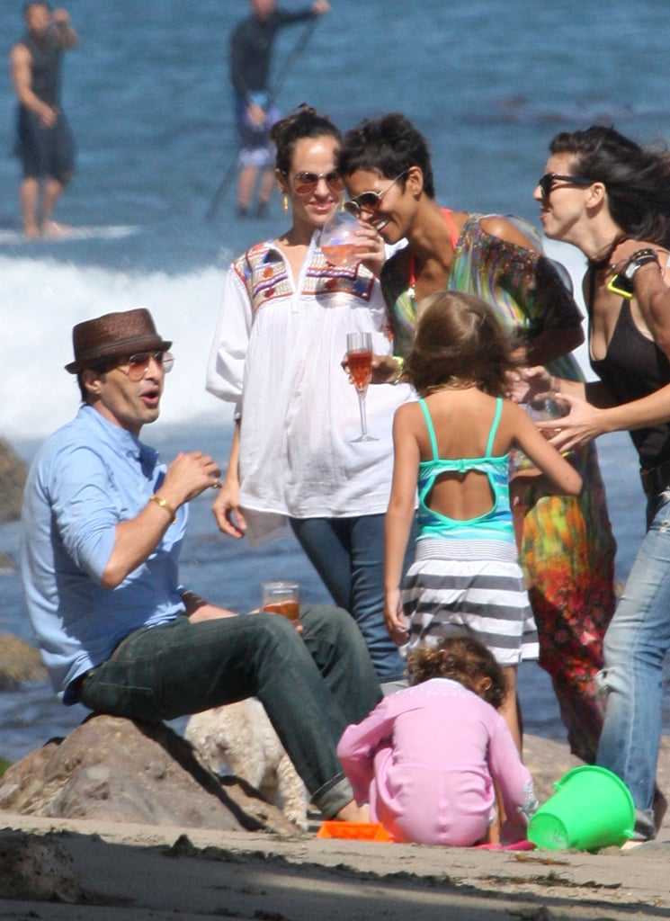 Halle Berry and Olivier Martinez celebrated her 45th birthday in Malibu, CA, in August 2011.