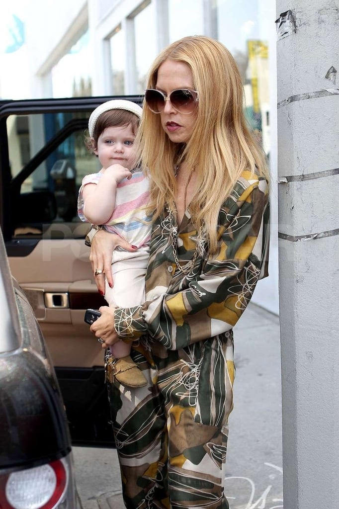 Rachel Zoe put Skyler in the car after a shopping trip together in West Hollywood.
