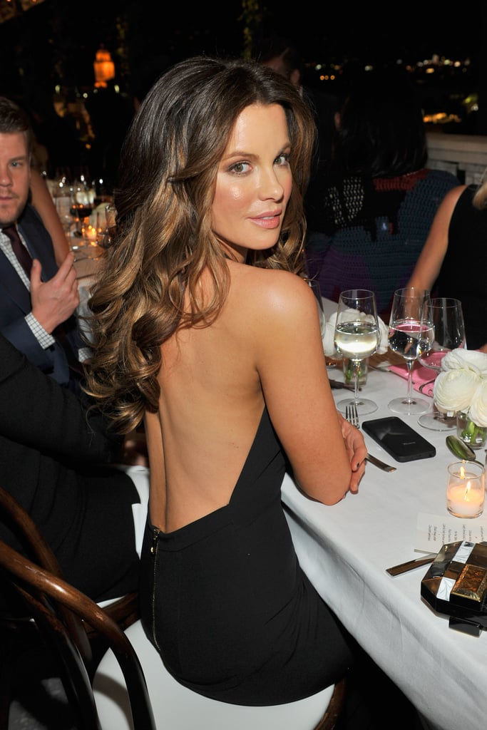 Kate opted for a stunning backless dress at a gala in 2015.