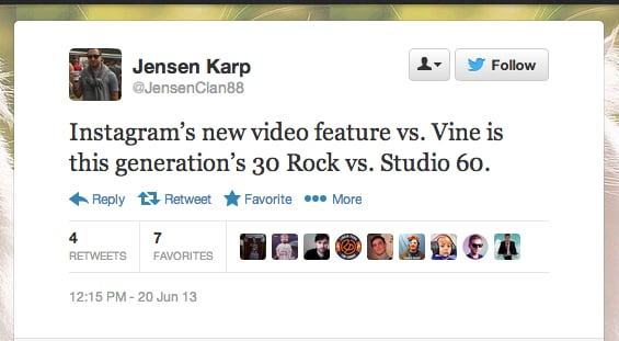 @JensenClan88 makes a dig at Aaron Sorkin's 2006 30 Rock wannabe.