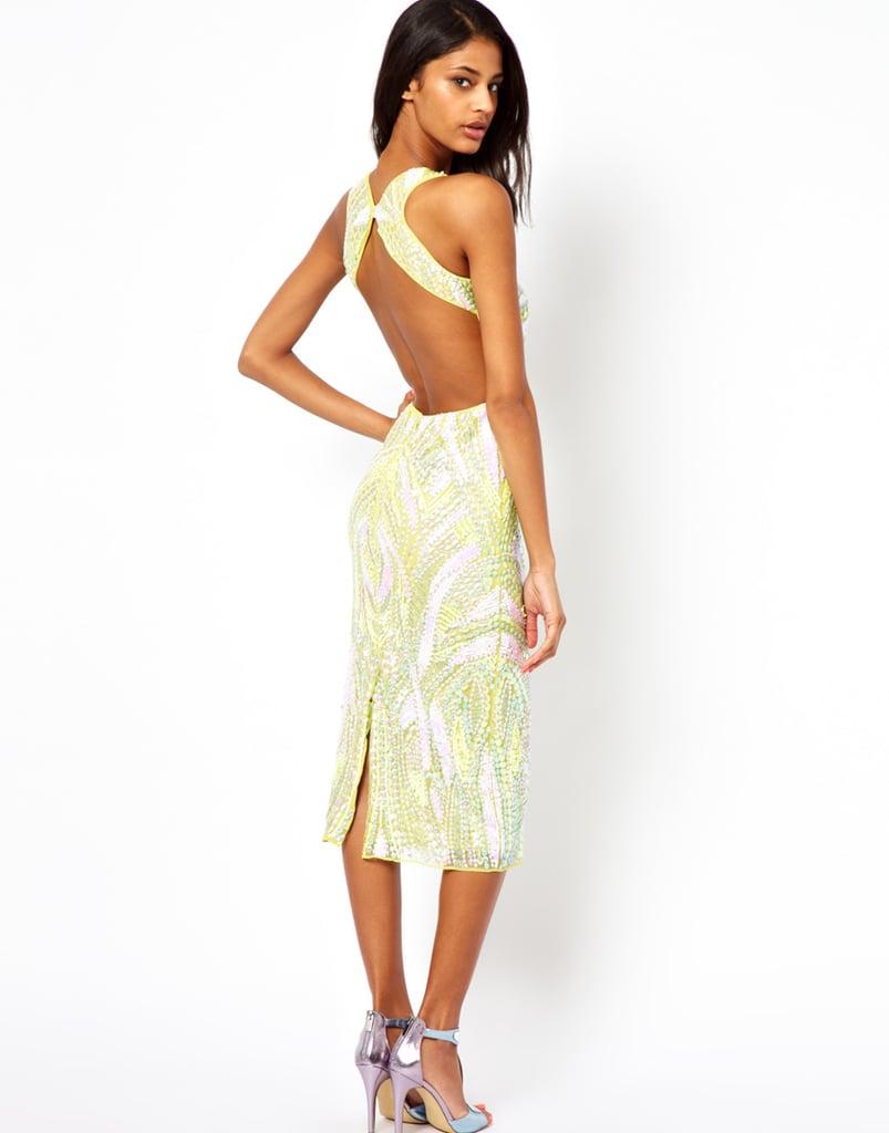 ASOS Backless Sequin Midi Dress ($148, originally $333)