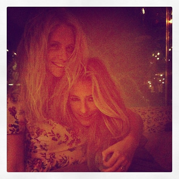 Poppy Delevingne and Cat Deeley shared a sweet photo with fans. Source: Instagram user poppydelevingne