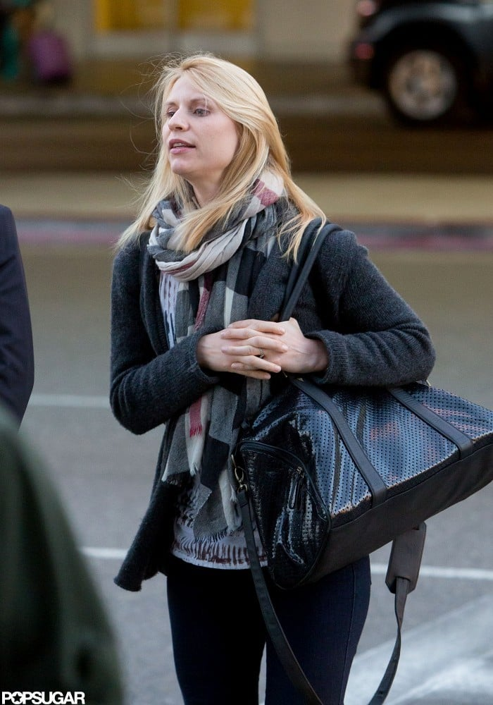 Claire Danes arrived at LAX.