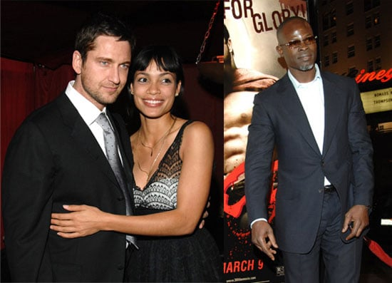 Rosario Catches Up With Some Hotties at 300 Premiere