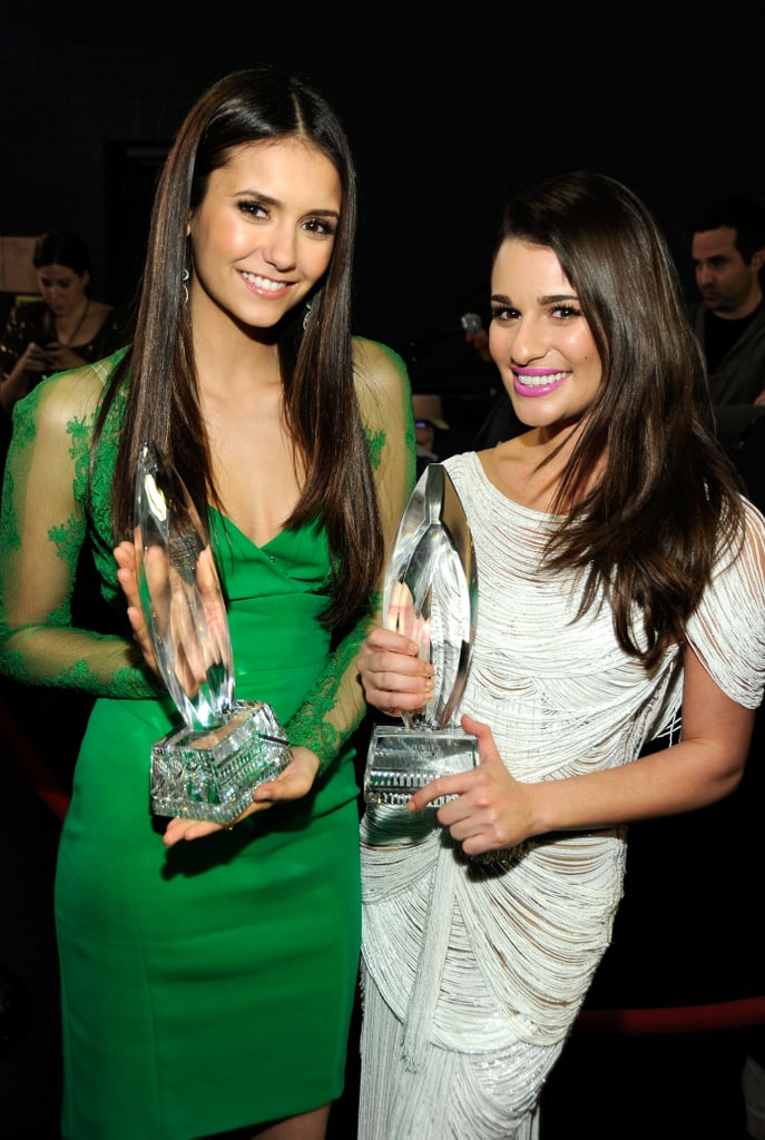 Lea and Nina Dobrev were glowing after their People's Choice Award wins during the January 2012 show in LA.