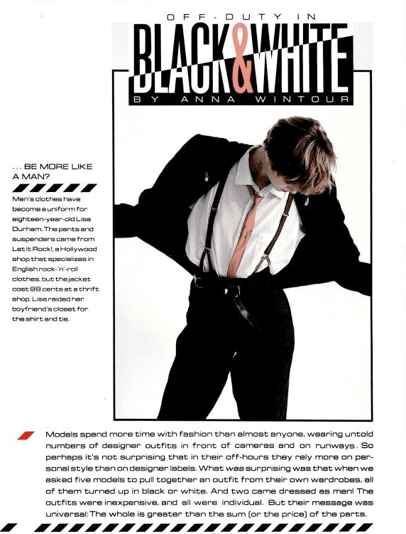 July 1983: Models Off-Duty in Black & White