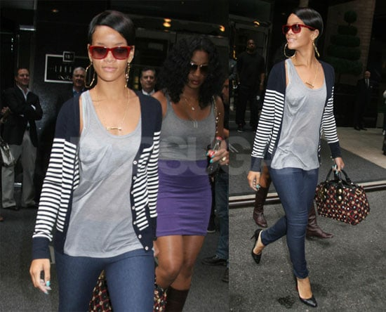 Rihanna Hanging Out in Manhattan