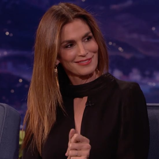 Cindy Crawford Hair Flip on Conan