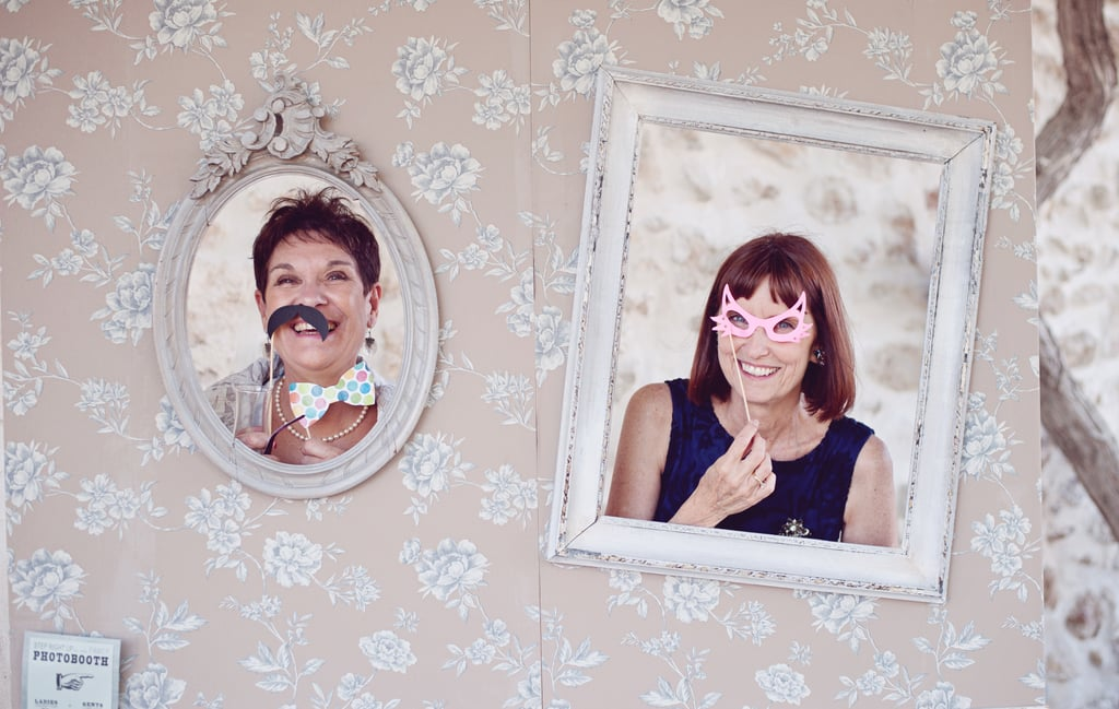Both Moms in the Photo Booth