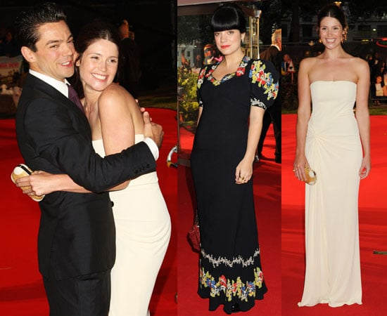 Pictures from the Tamara Drewe London Premiere Including Newlywed Gemma Arterton, Pregnant Lily Allen, Dominic Cooper