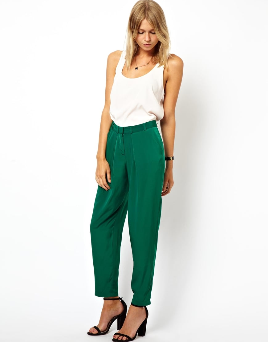 This season, we're all about the slouchy trousers — and this pair of ASOS peg pants ($30-$37) is a steal!