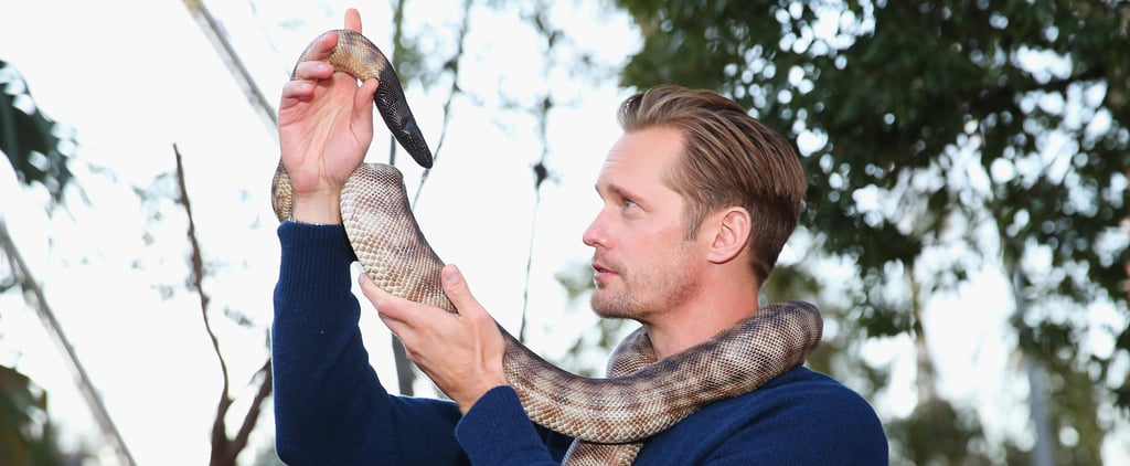 Alexander Skarsgard, Notable Human Charmer, Also Happens to Be a Snake Charmer