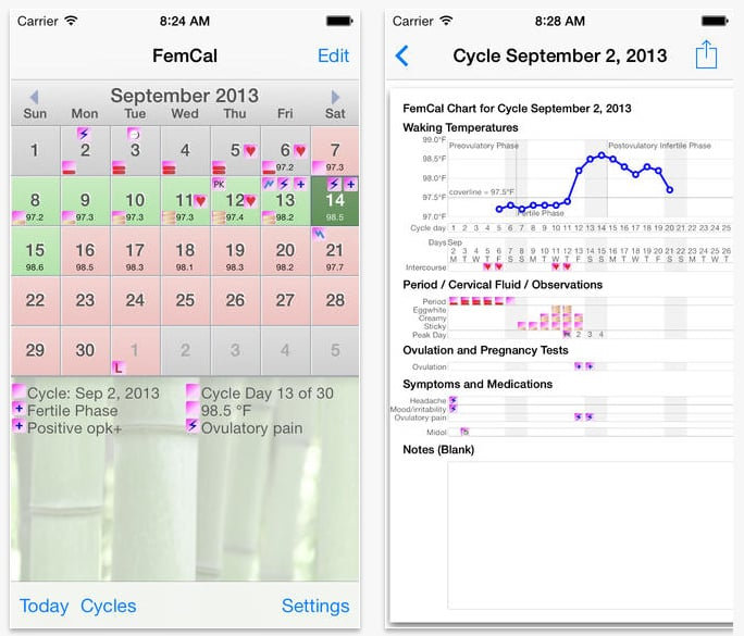 FemCal: Period and Ovulation Calendar
