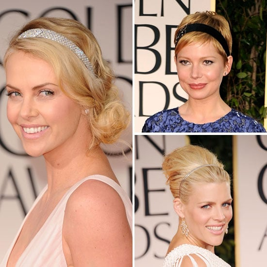 2012 Golden Globes Headband Trend Charlize Theron, Michelle Williams to Shop Now