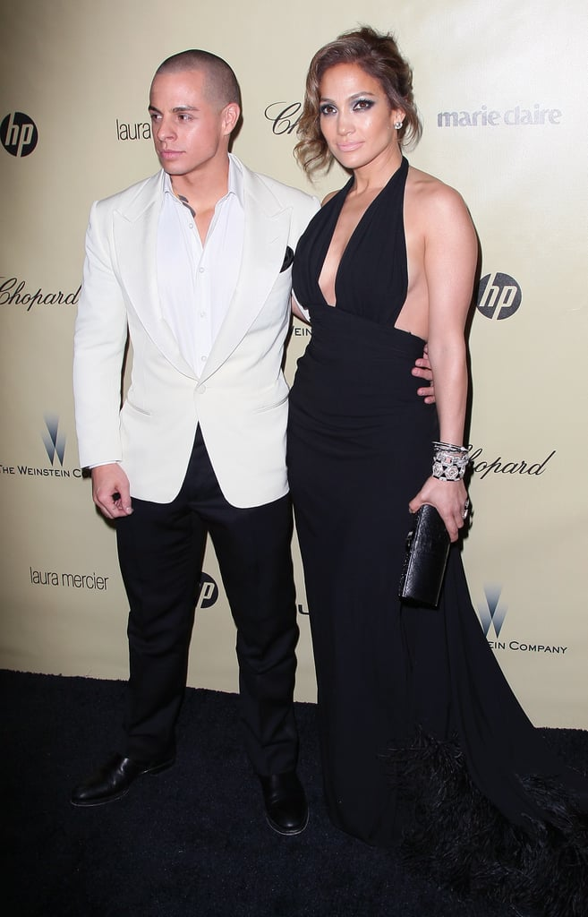 Love birds Jennifer Lopez and Casper Smart were attached at the hip all night.