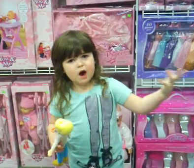 "4-Year-Old's Rant: ""Why Do All The Girls Have To Buy Pink Stuff?"" (VIDEO)"
