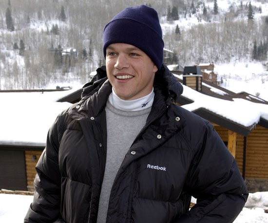 Matt Damon was ready for the cold in 2002.