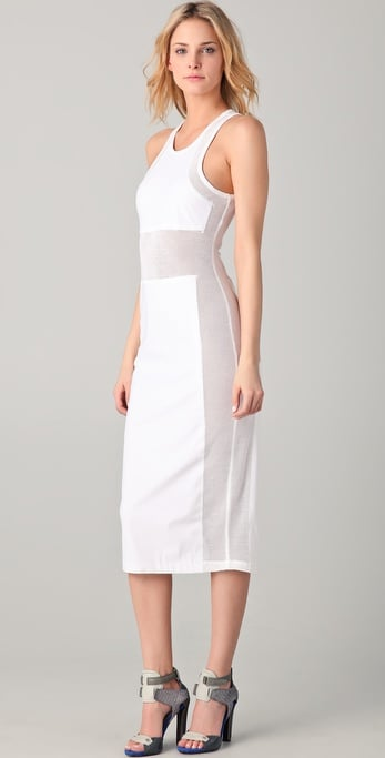 T By Alexander Wang Mesh Combo Tank Dress ($285)