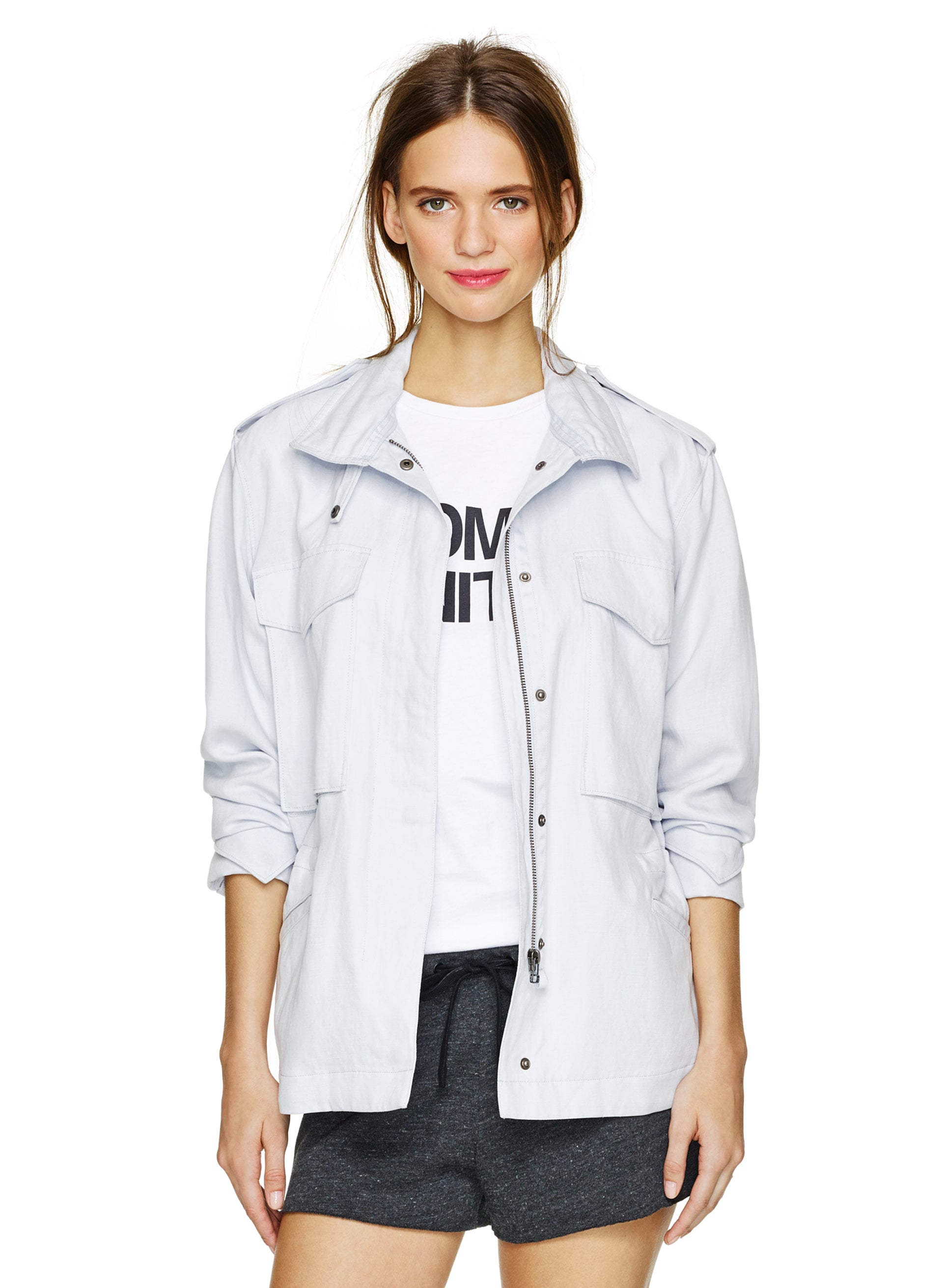 Community bleached light-blue military jacket ($145)