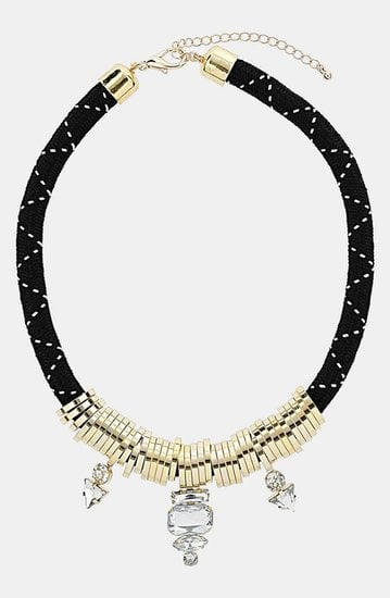 This Topshop collar necklace ($30) manages to be both a little sporty and totally glam.