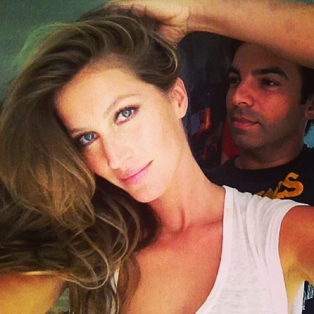 Gisele Bündchen showed off voluminous hair. Source: Instagram user giseleofficial