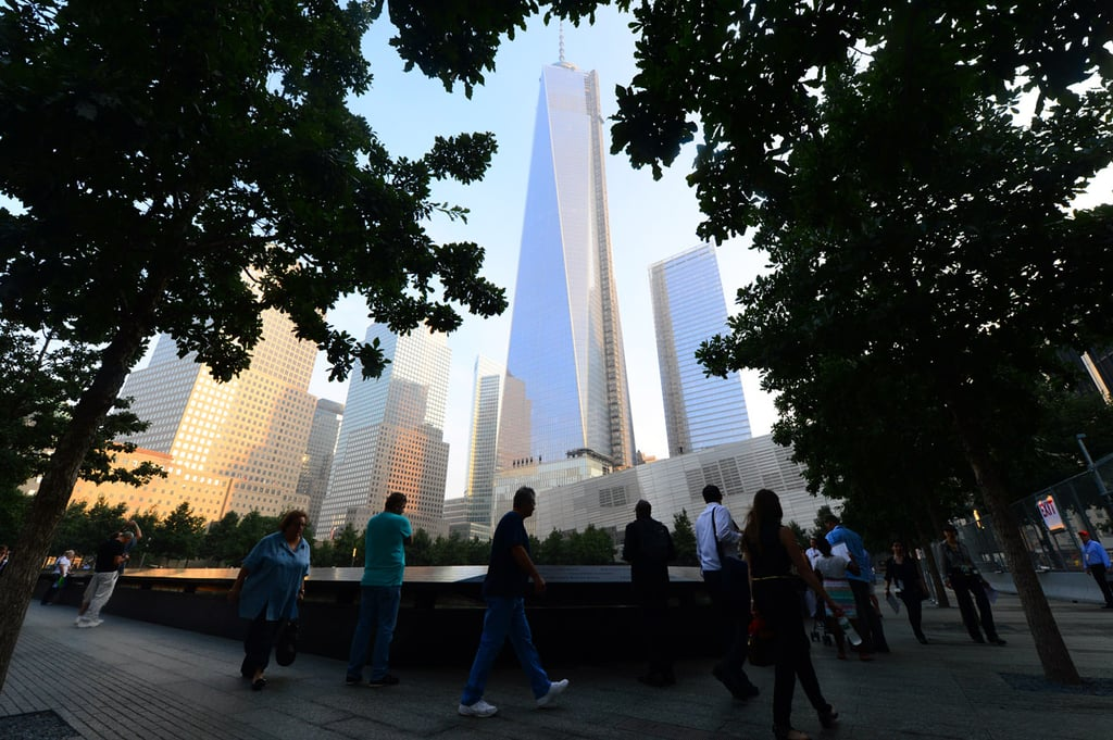 People visited the 9/11 Memorial in NYC to honor the 12th anniversary.