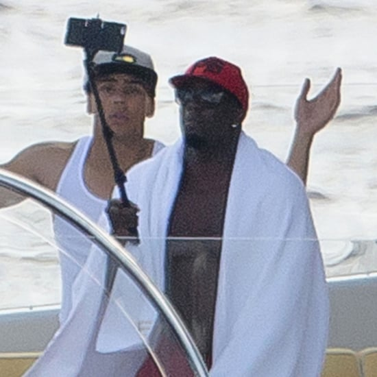 Diddy Using a Selfie Stick | Photos
