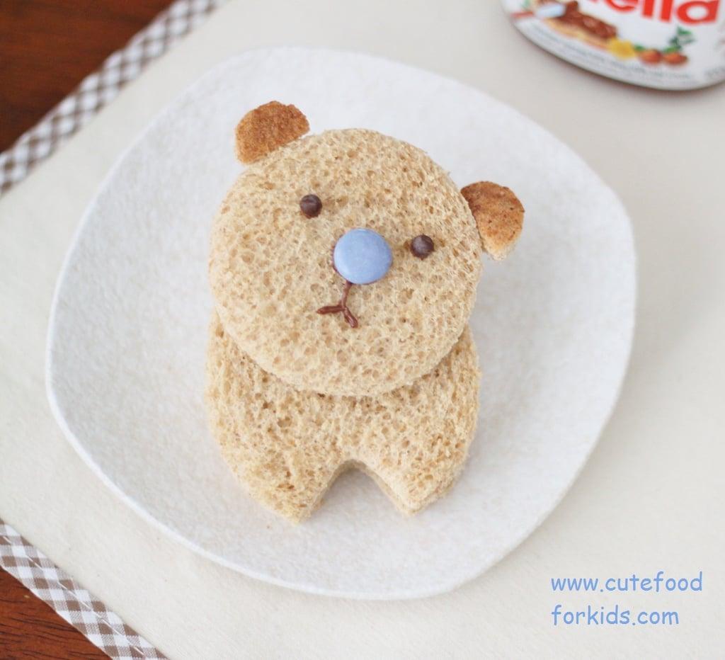 Nutella Bear Sandwich