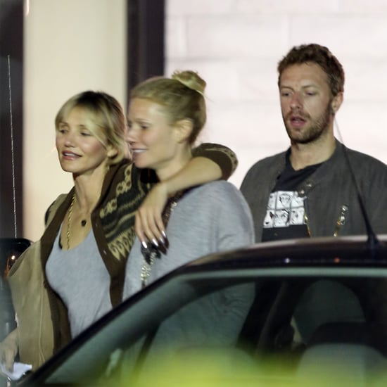 Gwyneth Paltrow and Chris Martin at Dinner With Cameron Diaz