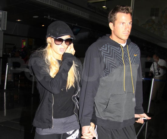 Slide Photo of Paris Hilton and Doug Reinhardt Leaving JFK Together