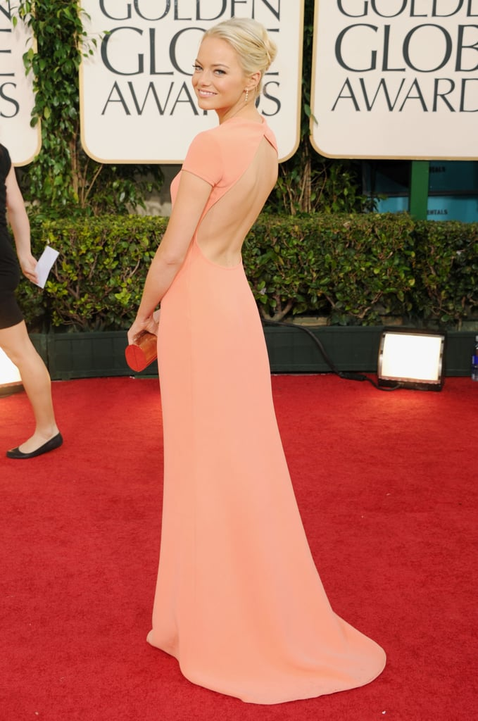 Emma Stone stole our hearts in this super sleek Calvin Klein frock. Want it, now!