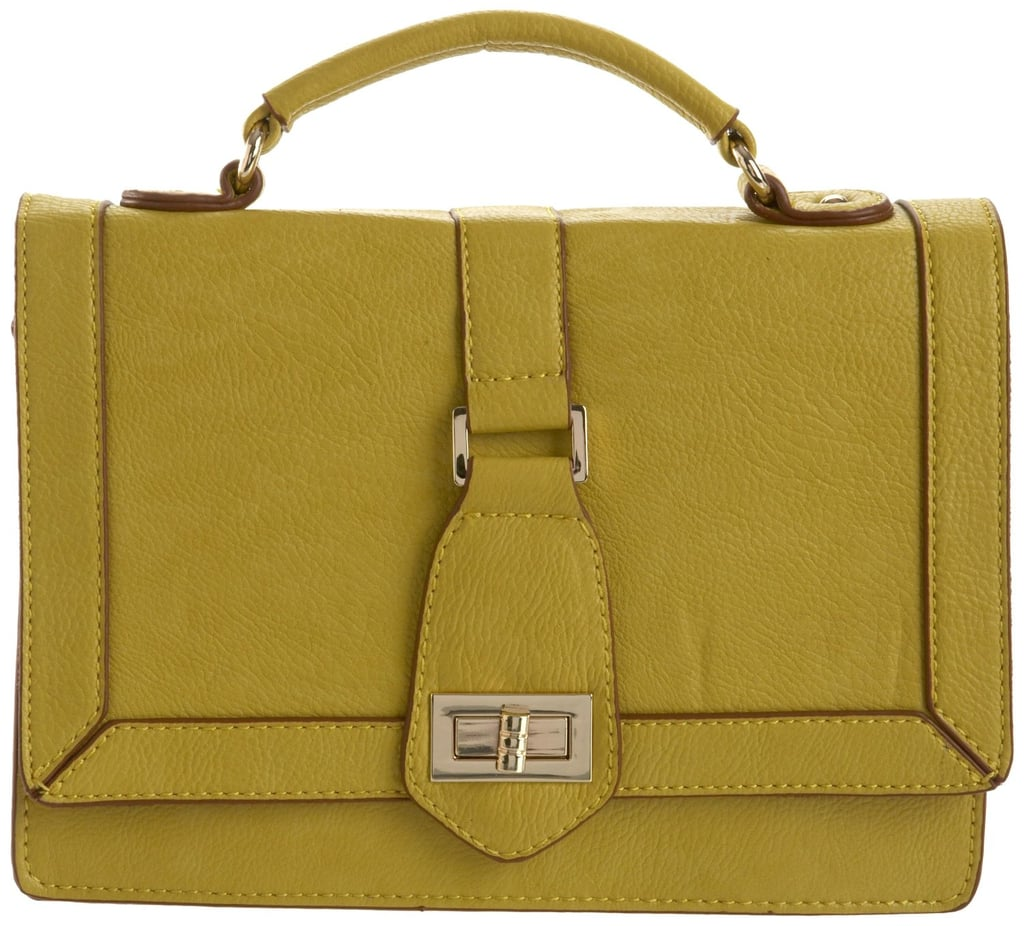 We love this stylish yellow-green satchel, and the gold hardware is a great complement. Melie Bianco Edith Structured Mini Satchel ($73)