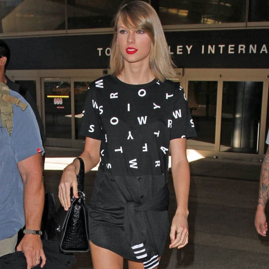 Taylor Swift Wearing Dress That Says Her Name