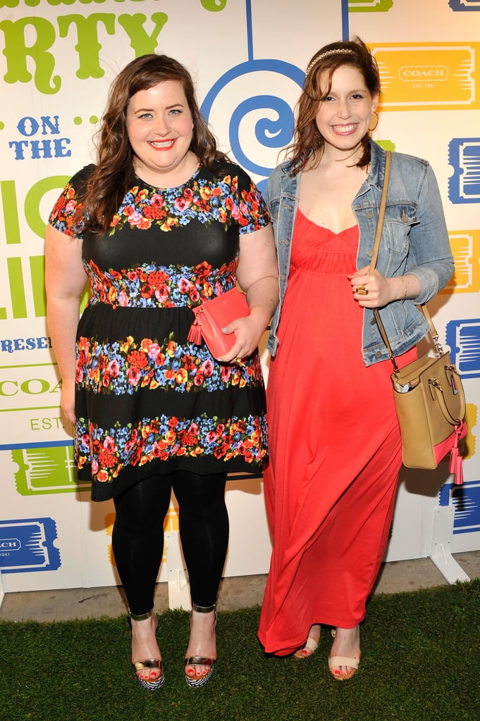 SNL stars Aidy Bryant and Vanessa Bayer hit up the party.