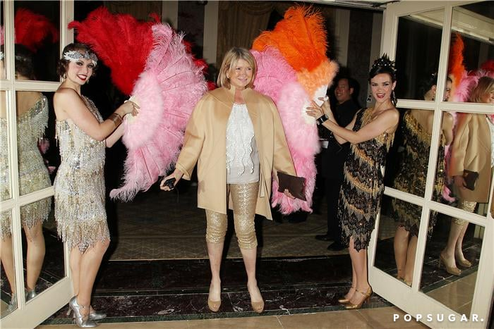 Martha Stewart had fun with fans at the afterparty.