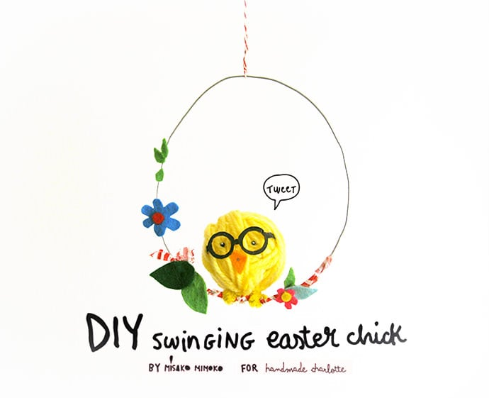 Swinging Easter Chick