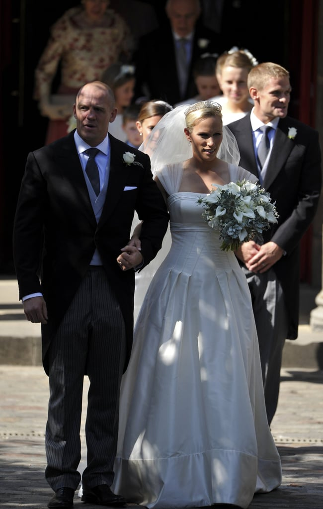 Zara Phillips and Mike Tindall Leave Canongate Kirk as Husband and Wife!