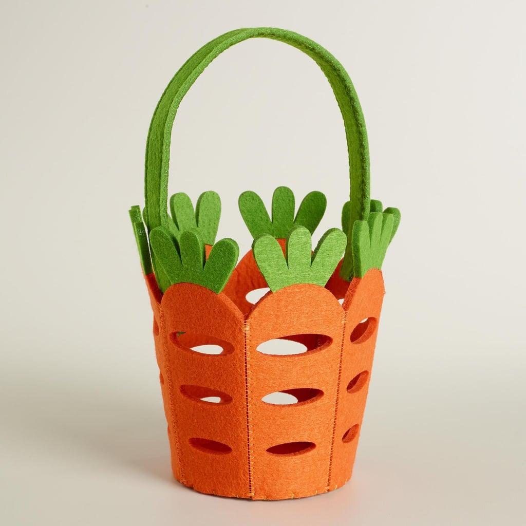 Carrot Felt Easter Basket