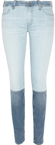 MiH Jeans Breathless two-tone low-rise skinny jeans