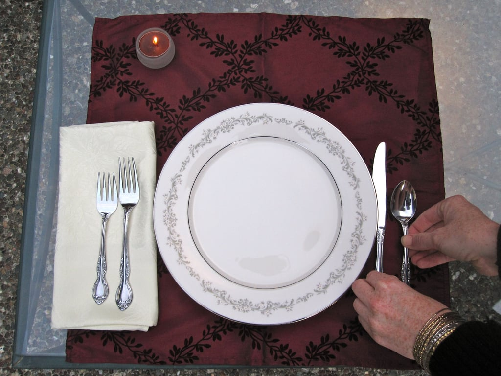 Balance out the place setting with a knife and spoon.