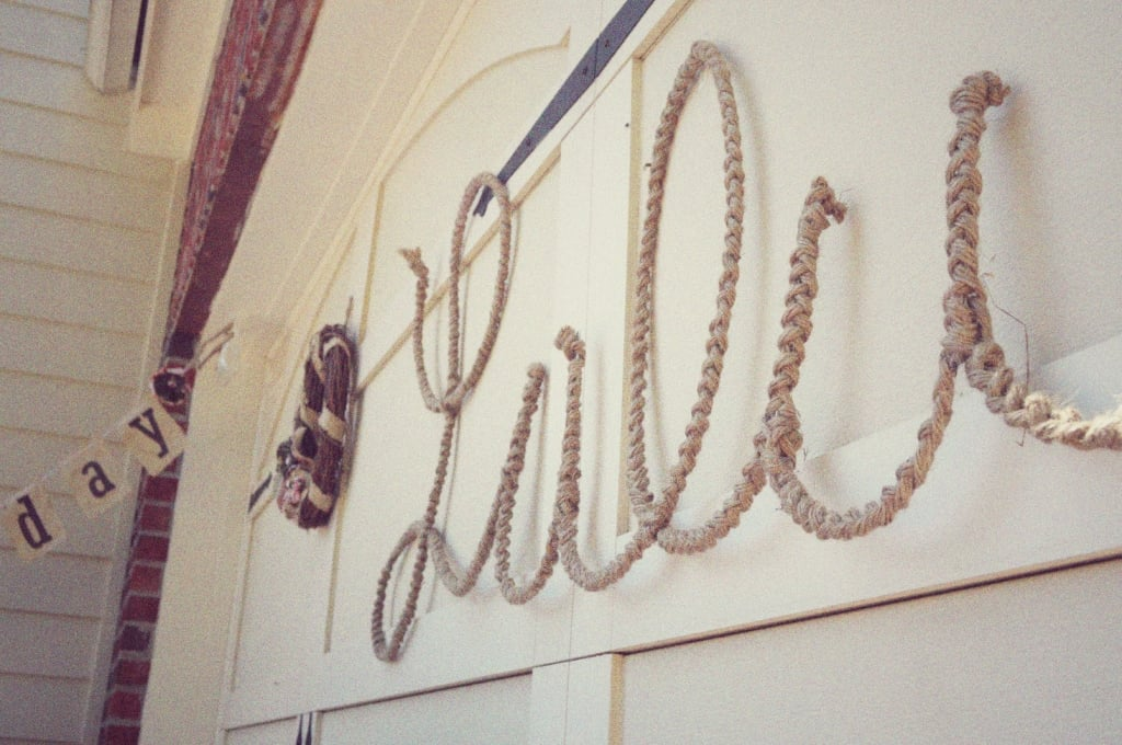 Braided Rope Sign