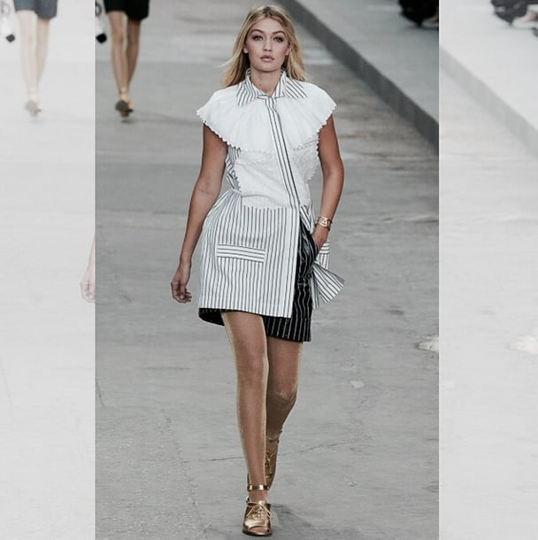 She's mastered the runway, like here at Chanel . . .