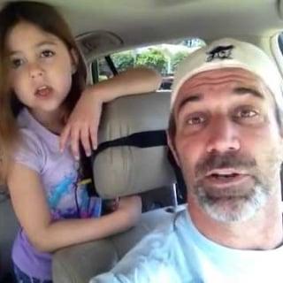 """Dad and Daughter Sing """"Love Is an Open Door"""""""