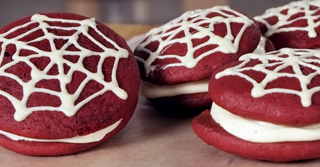 Spiderweb Red Velvet Whoopie Pies